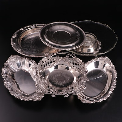 """Wallace """"St. Regis"""" Bread Tray with Other American Silver Plate Serveware"""