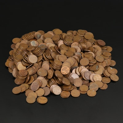 Large Collection of Assorted Date Lincoln Wheat Cents, 1920s–1950s
