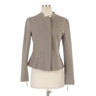 Sandra Angelozzi Grey Zipper Jacket