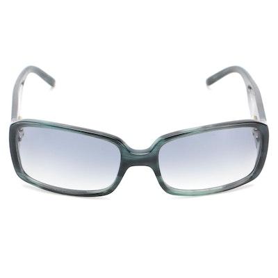 Valentino Sunglasses in Blue Tortoise with Gradient Lenses