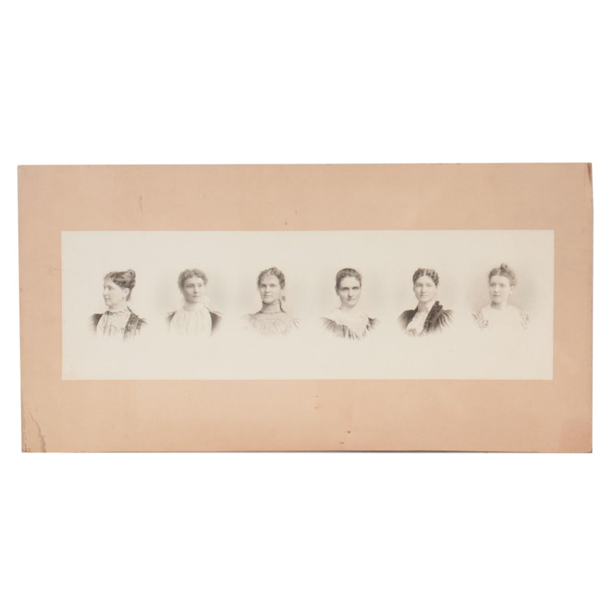"""Silver Gelatin Group Portrait of """"Neiberger Sisters"""""""