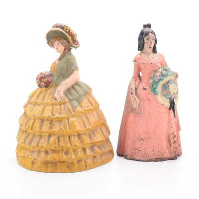 Dolly Madison and National Foundry's Large Lady Cast Iron Doorstops