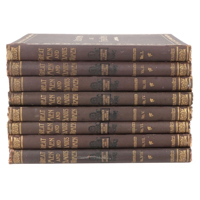 """""""Great Men and Famous Women"""" Eight-Volume Set Edited by Charles F. Horne, 1894"""