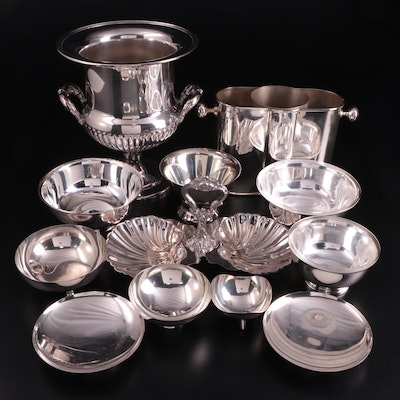 """Gorham """"Paul Revere"""" Bowl with Other American Silver Plate Serveware"""