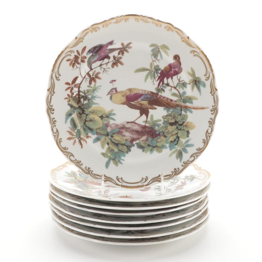 """Andrea by Sadek """"Exotic Birds"""" Porcelain Dinner Plates"""