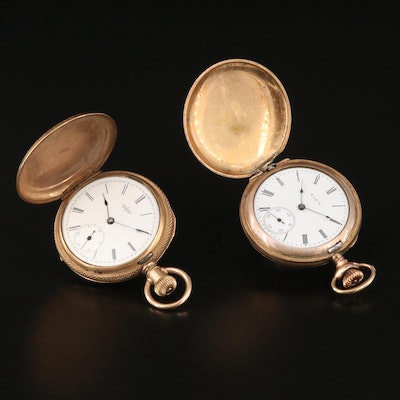 Pair of Antique Elgin Gold Filled Pocket Watches