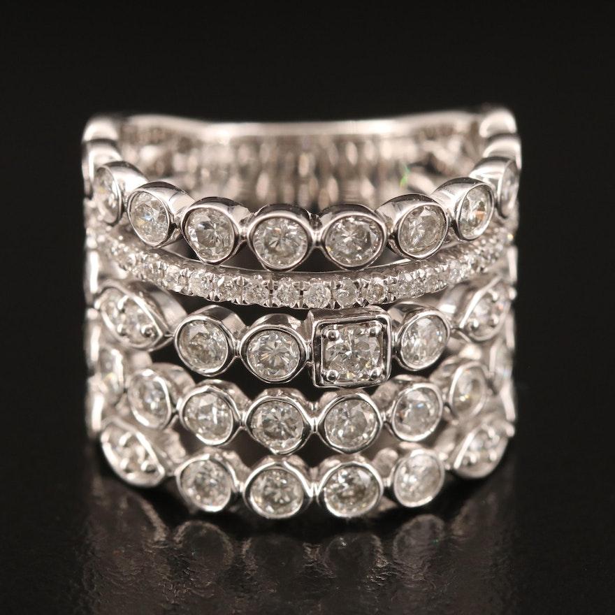 14K 2.91 CTW Diamond Wide Band