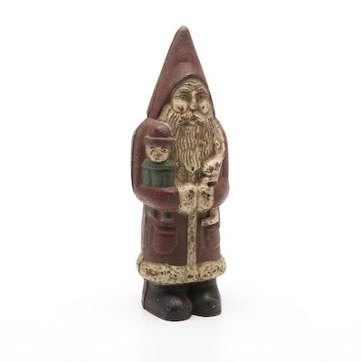 Cast Iron Santa Gnome Doorstop and Bank