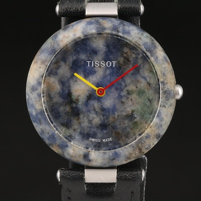 Vintage Tissot Rock Watch with Blue Sodalite and Stainless Steel