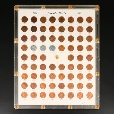 Set of Lincoln Wheat Cents, 1934–1958