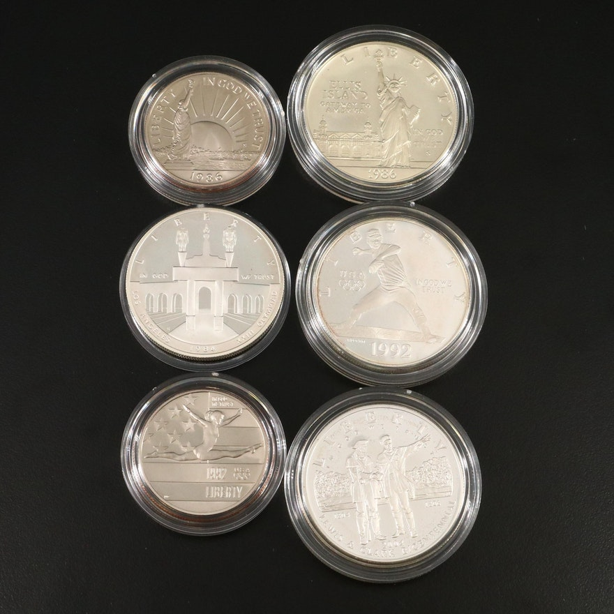 U.S. Mint Proof Commemorative Silver Dollars