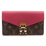 Louis Vuitton Sarah Wallet in Monogram Canvas and Textured Leather