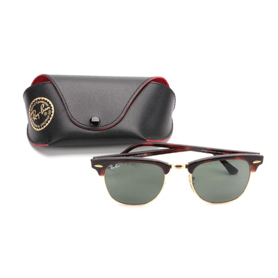 Ray-Ban Clubmaster RB3016 Sunglasses in Tortoise Acetate with Case