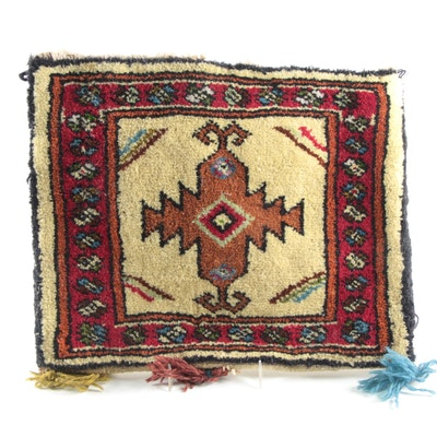 Turkish Style Hand-Knotted Wool Carpet Bag