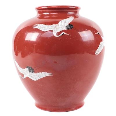 Noritake Nippon Vase with Crane Design