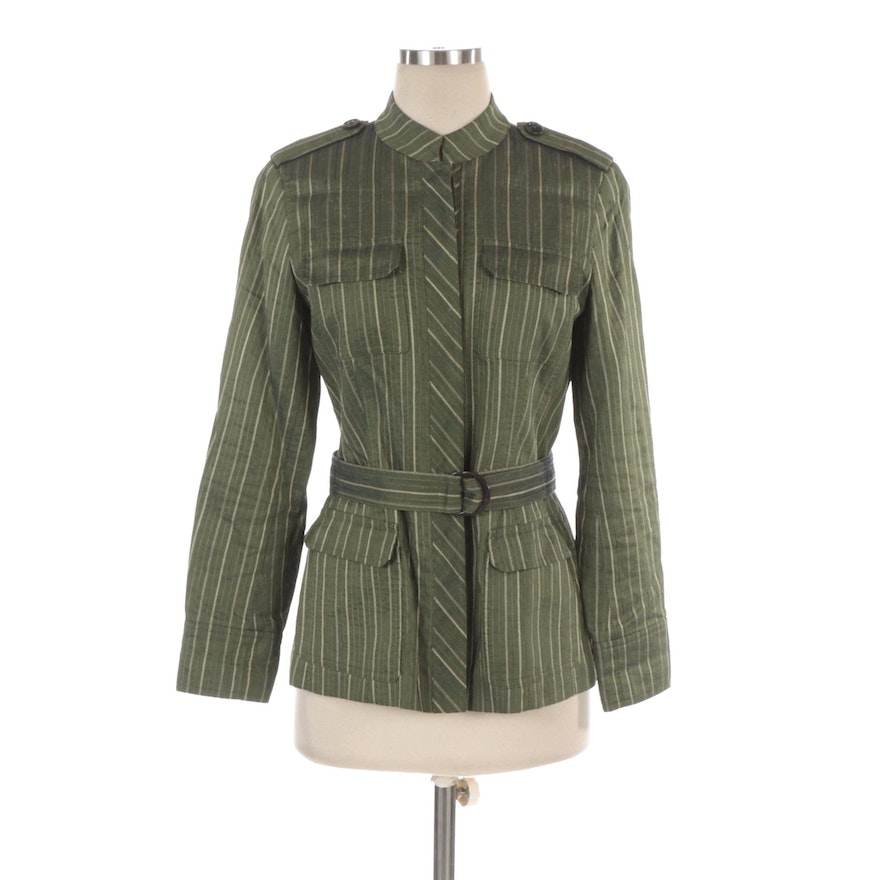 Lafayette 148 New York Belted Utilitarian Style Jacket