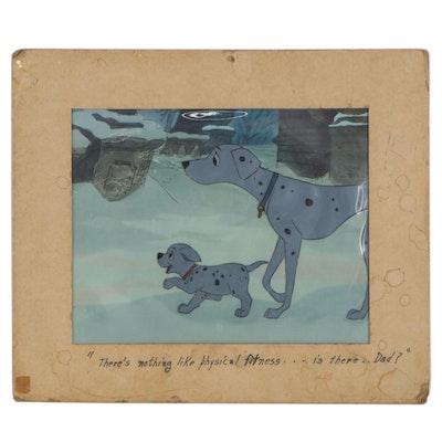 "Disney ""101 Dalmatians"" Production Cel Setup of Perdita and Puppy, 1961"