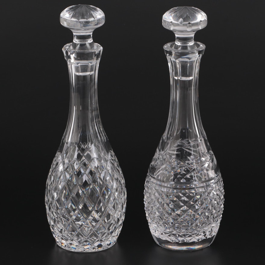 """Waterford Crystal """"Glandore"""" and """"Comeragh"""" Cordial Decanters"""