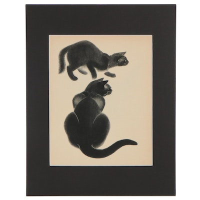 """Double-Sided Rotogravure After Clare Turlay Newberry from """"April's Kittens"""""""
