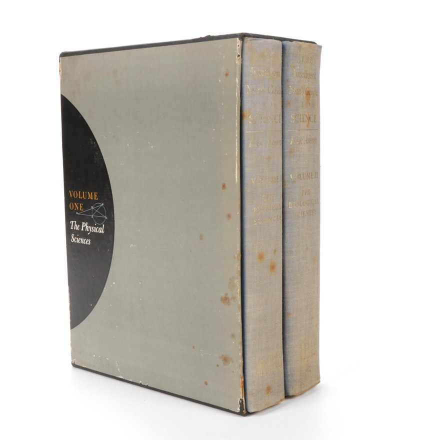"""First Edition """"The Intelligent Man's Guide to Science"""" Box Set by Isaac Asimov"""