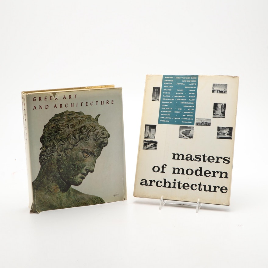 """""""Masters of Modern Architecture"""" and """"Greek Art And Architecture"""" Books"""