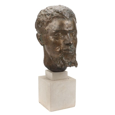 Bronze Portrait Bust, Mid-Late 20th Century
