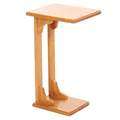 Oak Tray Side Table, Late 20th Century