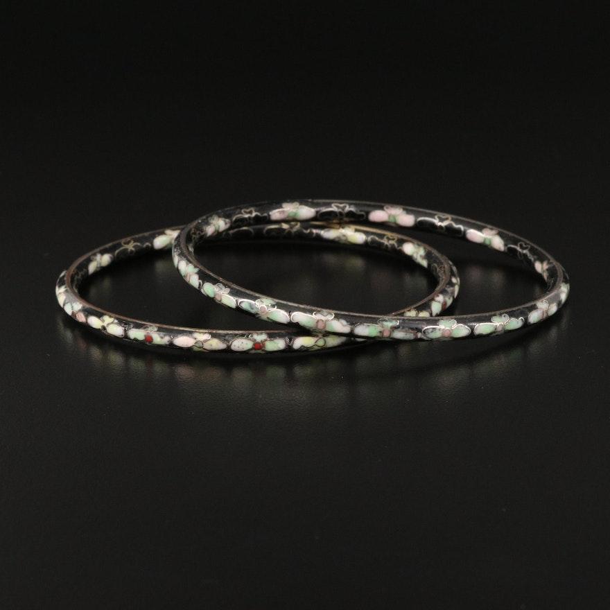 Cloissoné Bangle Bracelets