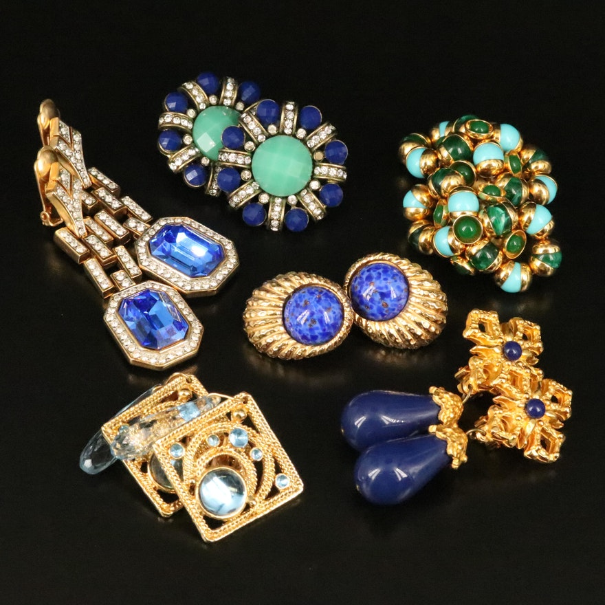 Vintage Earrings with Gay Boyer, Two Sisters and Rhinestones