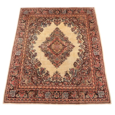 7'8 x 9'9 Hand-Knotted Persian Kerman Area Rug