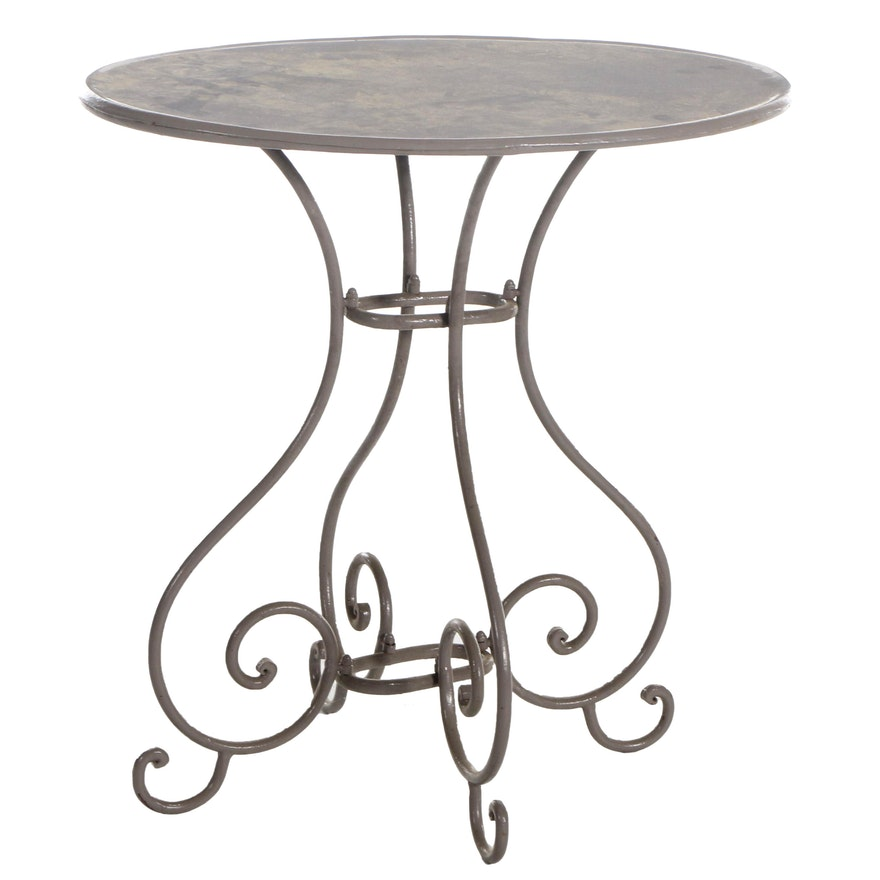 Contemporary Scrolled Metal Dinette Table