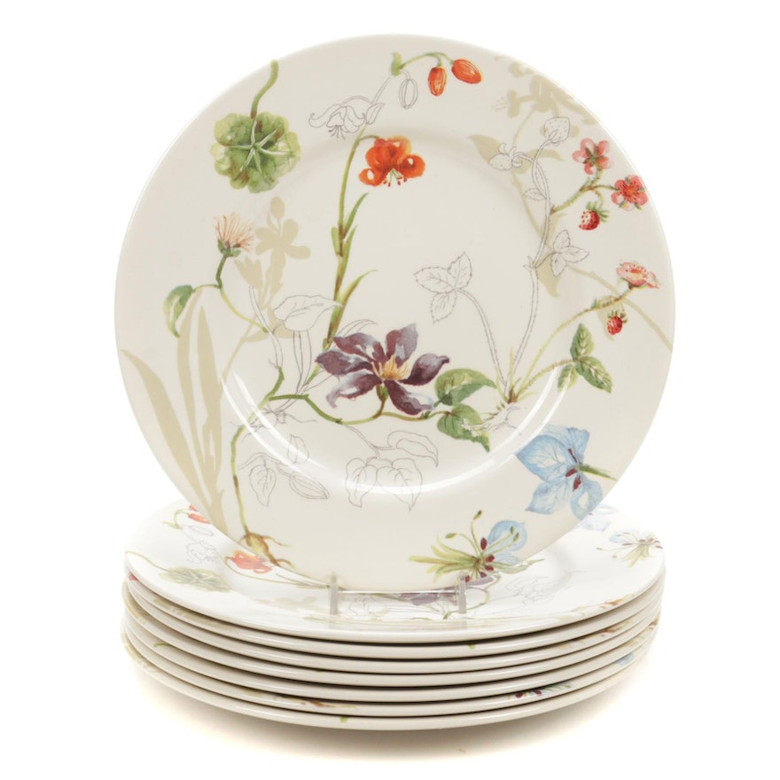 """Royal Stafford """"Sketchbook Floral"""" Luncheon Plates"""