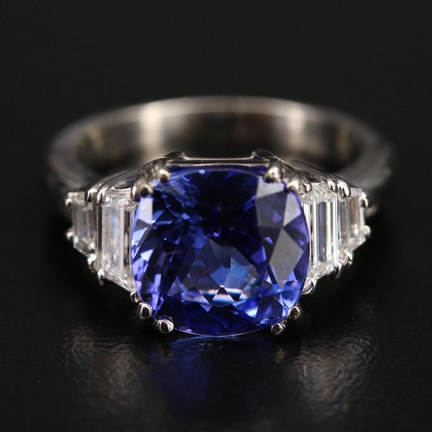 14K 4.00 CT Tanzanite and 1.00 CTW Diamond Ring