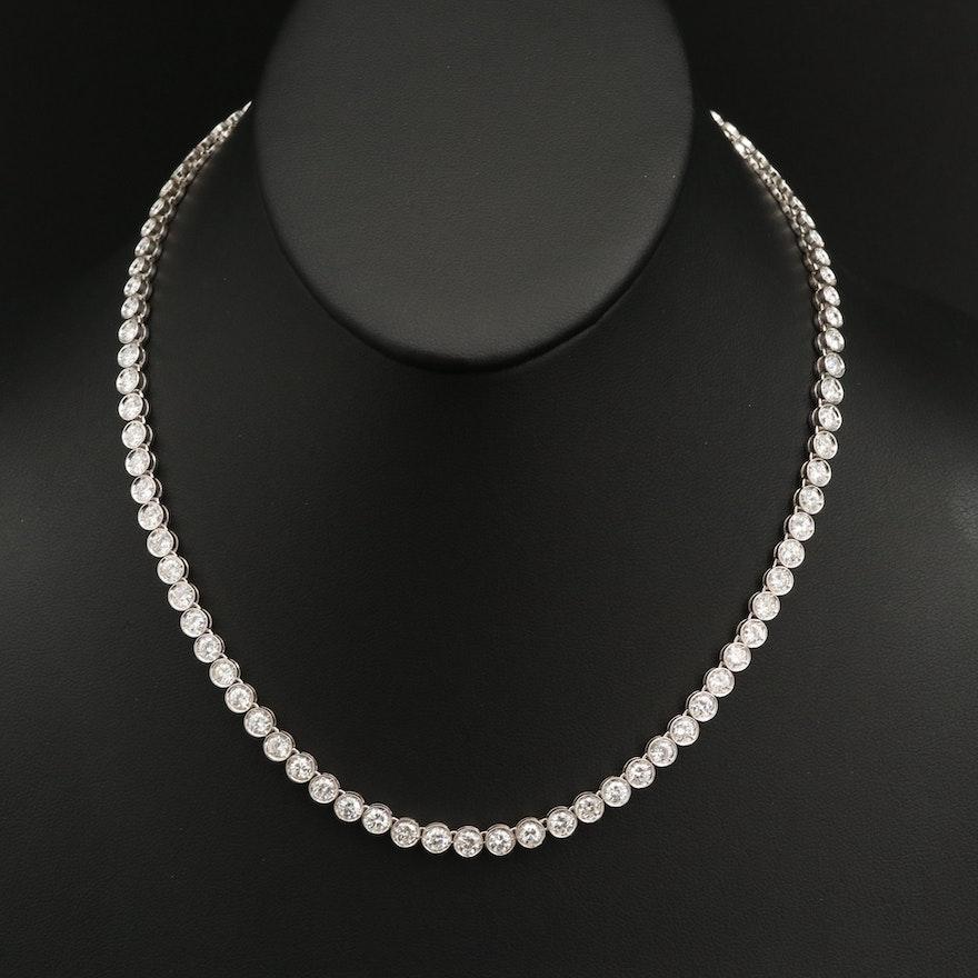 14K 10.56 CTW Diamond Graduated Riviera Necklace