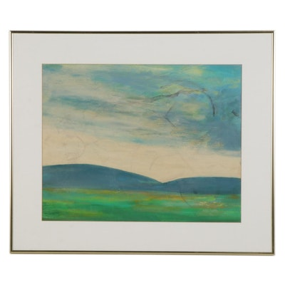 Landscape Oil Painting, Mid to Late 20th Century