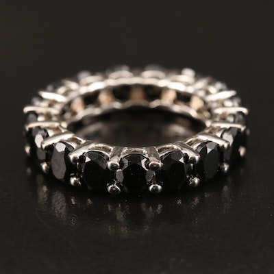 Sterling Spinel Eternity Band