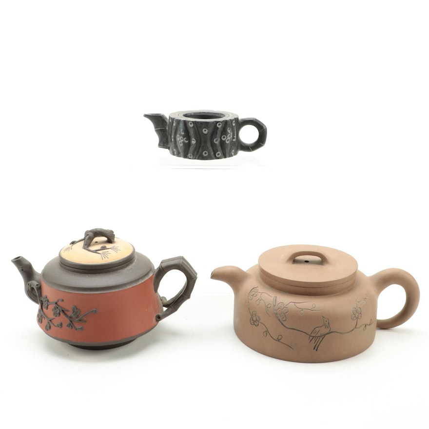 Chinese Yixing Style Clay Teapots
