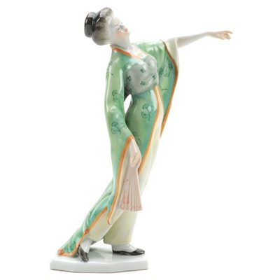 """Herend """"Madame Butterfly"""" Porcelain Figurine"""