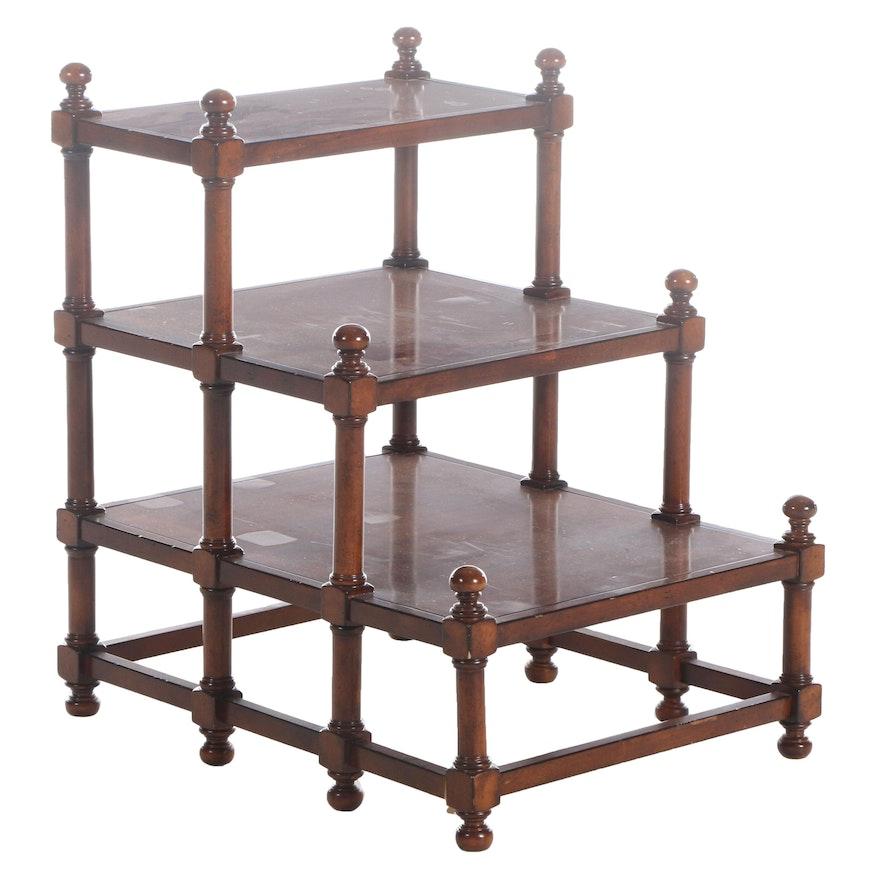 Flexsteel Mahogany Finish Tiered Side Table, Late 20th Century