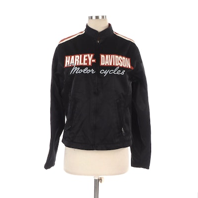 Men's Harley-Davidson Motorcycle Jacket with Embroidered Chest Logo