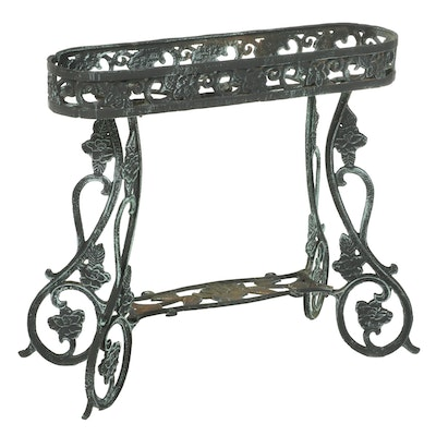 Cast Metal Outdoor  Plant Stand, Late 20th Century