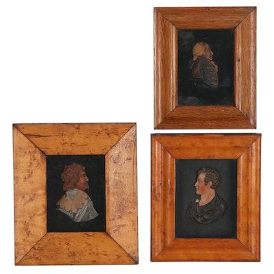 British Wax Portrait Reliefs, Mid-19th Century