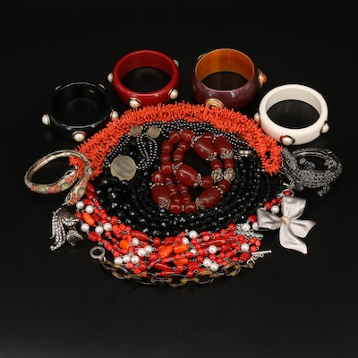 Jewelry Featuring Carolee Bangle Trio and Snake Cuff