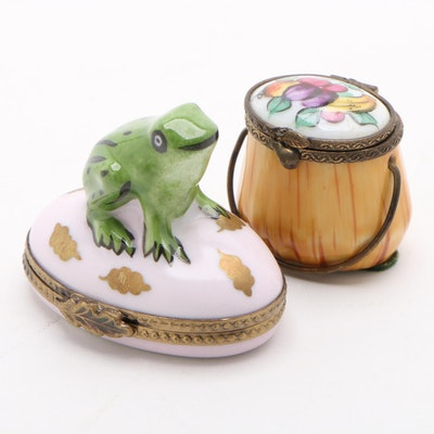 Hand-Painted Porcelain Limoges Boxes