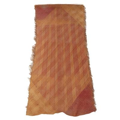 Southeast Asian Handwoven Straw Mat Wall Hanging