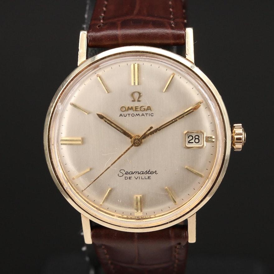 14K Omega Automatic Seamaster DeVille Wristwatch