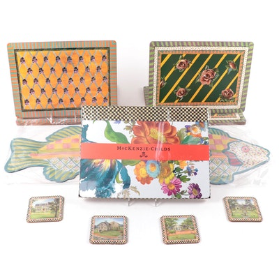 """MacKenzie-Childs """"Freckle Fish"""" Placemats and More"""