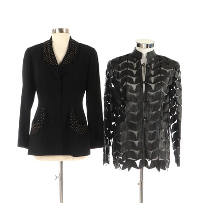 Stillman Studio Leather Cut Out Jacket and Zelda Studded Jacket