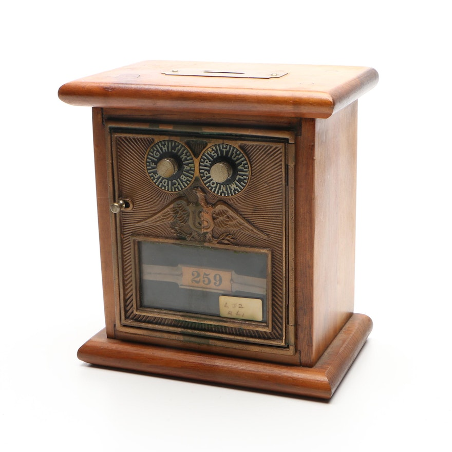 Handcrafted Wooden Coin Bank with Combination