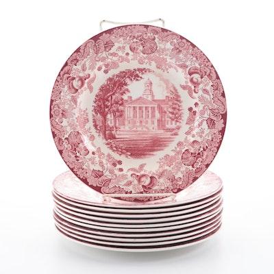 Wedgwood Harvard University Red Transfer Dinnerware, 1932